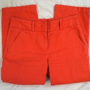 J. Crew Favorite Fit Cropped Capri Coral Pants